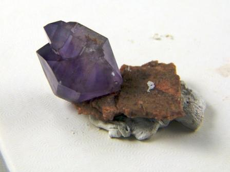 Amethyst Herkimer Crystal on Druzy Quartz Base 09-00283