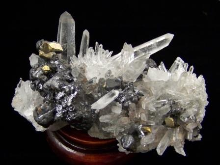 09-00405 Quartz Cluster with Sphalerite and Pyrite