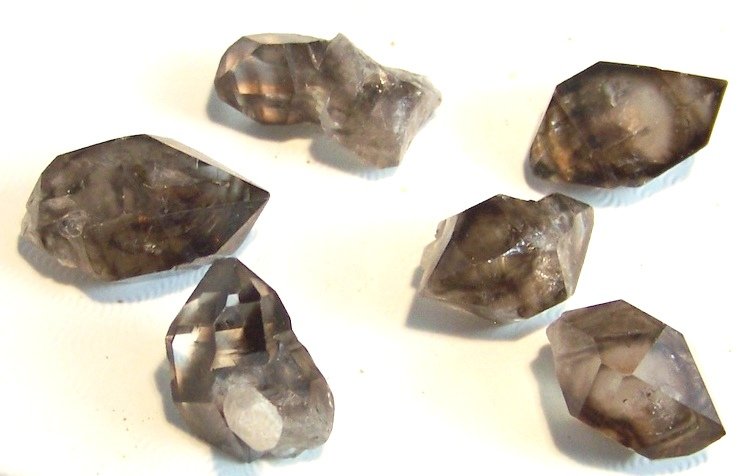 09-00546 Smoky Quartz - Herkimer Shape
