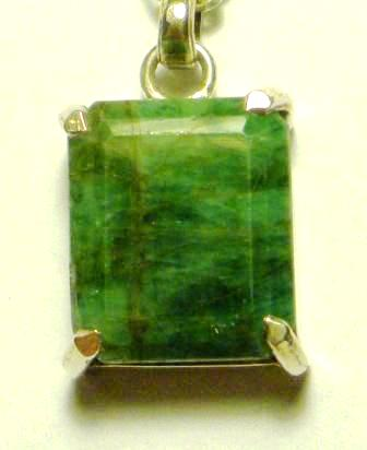 09-01223 Faceted Emerald Pendant